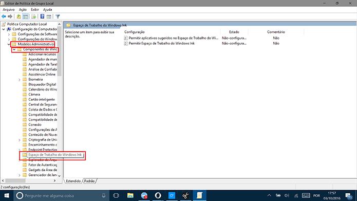 Siga o caminho para achar a opção de desativar o Windows Ink (Foto: Reprodução/Elson de Souza)