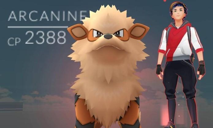 Arcanine em Pokémon Go (Foto: Reprodução/Felipe Vinha)
