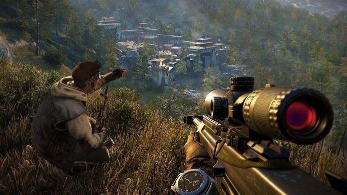 O protagonista Ajay Ghale elaborando uma estratégia de invasão (Foto: Divulgação)