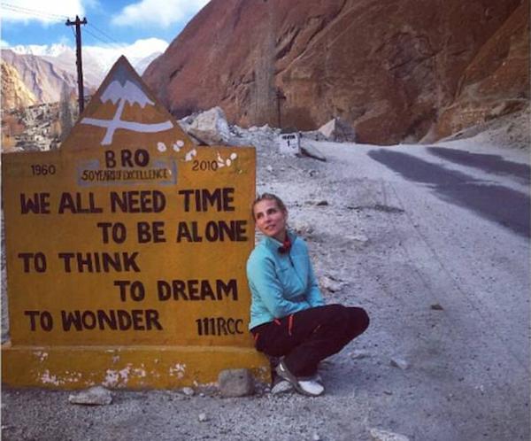 A atriz Elsa Pataky durante sua viagem ao Himalaia (Foto: Instagram)
