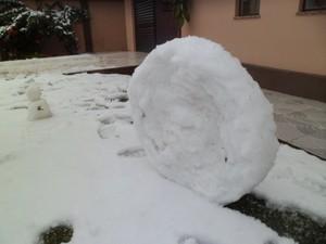 Também nevou em Canoinhas, no Planalto Norte (Foto: Paola Cruz/VC no G1)