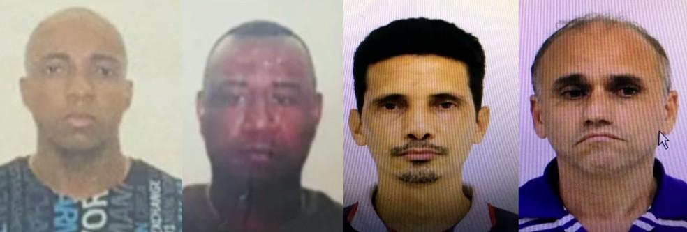 José Carlos, João Victor, Marcio e Luciano foram presos por envolvimento no contrabando de armas para o Brasil (Foto: Reprodução/ TV Globo)