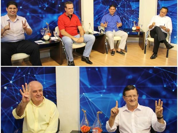 Candidatos à Prefeitura de Manaus se reuniram em debate na noite desta quinta-feira (22) (Foto: Gabriel Machado/G1 AM)