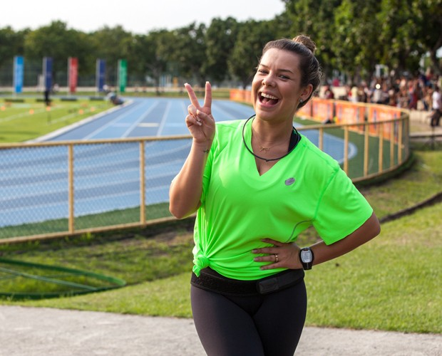 Fernanda Souuza na competição do Estrelas (Foto: Fabiano Battaglin/Gshow)