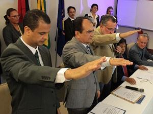Posse dos novos deputados da Paraíba (Foto: Divulgação/Assembleia)