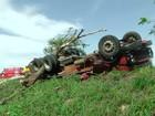 Motorista de caminhão morre em acidente na RJ-158 em São Fidélis, RJ