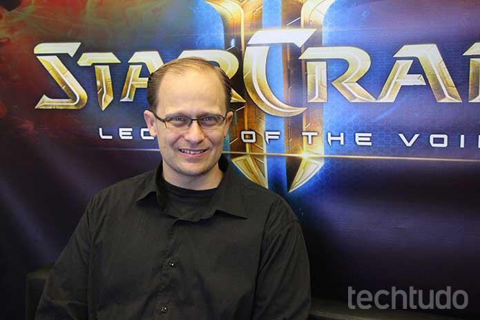 Tim Morten, produtor de StarCraft, garante que a saga vai continuar (Foto: Felipe Vinha/TechTudo)
