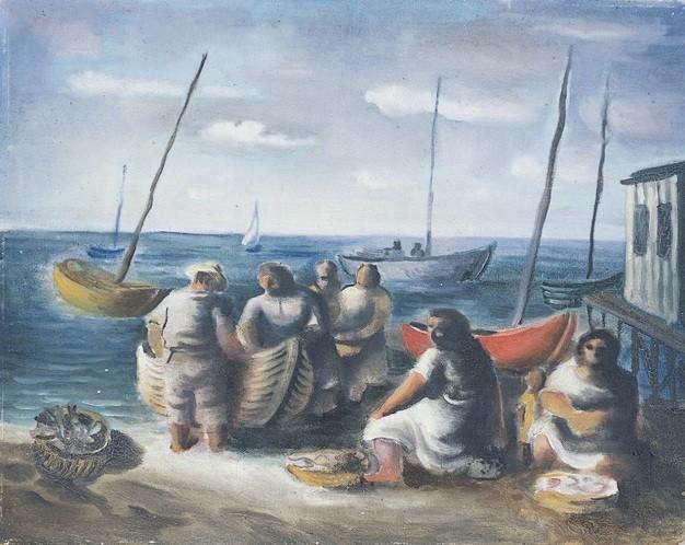 Pescadores, de Di Cavalcanti (Foto: Reprodução/Masc)