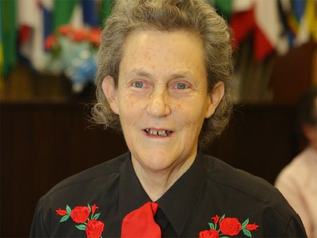 Temple Grandin é professora de ciências animais da Universidade do Estado do Colorado e tem pós-doutarado em veterinária (Foto: Paulo Villas Boas/ Divulgação)