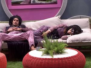 BBB às 23h57m do dia 28/02. (Foto: Big Brother Brasil)