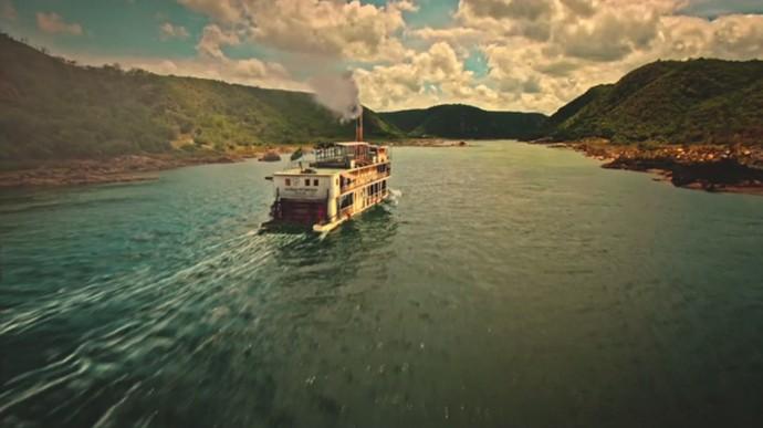 O Gaiola Encantado é uma embarcação que carrega as almas dos ribeirinhos (Foto: TV Globo)