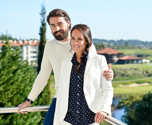 Ricardo Pereira e a mulher, Francisca Pinto (Foto: Divulgação/Belas Clube de Campo)