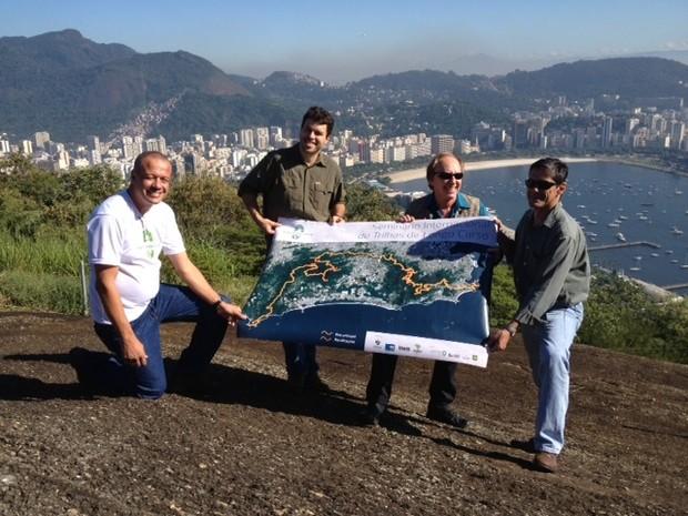 Carlos Minc apresenta projeto Trilha Transcarioca. (Foto: Mariucha Machado/G1)