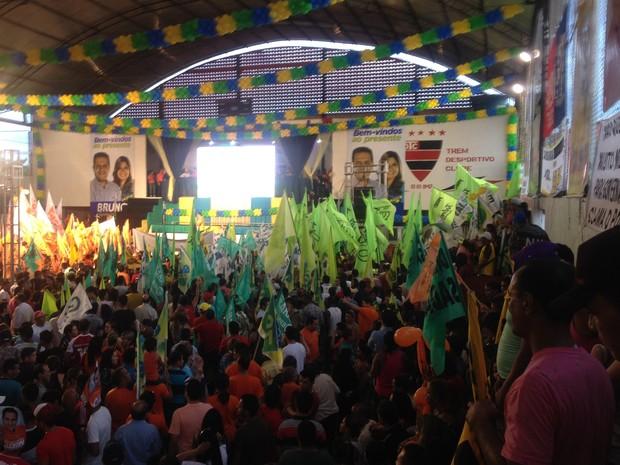 Convenção reuniu sete partidos para candidatura de Bruno Mineiro ao governo (Foto: John Pacheco/G1)
