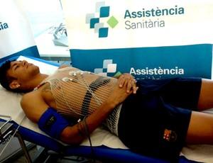 Neymar exame médico Barcelona (Foto: Reprodução / Twitter oficial)