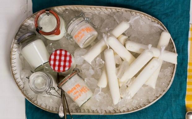 Cozinha Prtica Vero, iogurte, sacol de iogurte com coco e mel (Foto: Divulgao/Editora Panelinha)