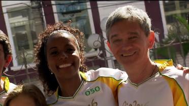 Serginho mostra bastidores do revezamento da tocha olímpica