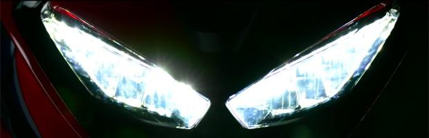 Imagem mostra novo farol da Honda CBR 1000 RR (Foto: Divulgação / Honda)