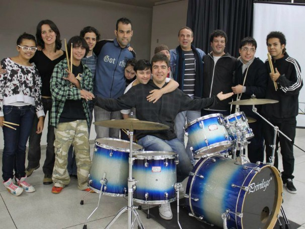 Integrantes do projeto Alma de Batera, um dos casos de maior sucesso do Movere (Foto: Divulgação)