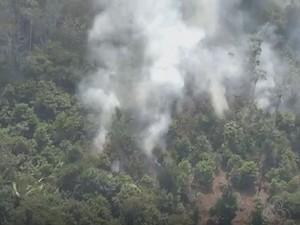 Queimadas atingem em área Yanomami (Foto: Reprodução/Rede Amazônica)
