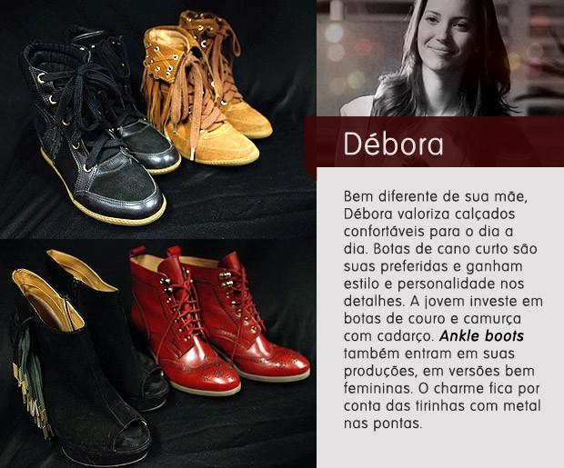 Débora sapatos (Foto: Avenida Brasil / TV Globo)