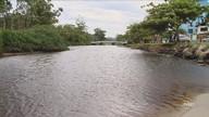 Cor escura e cheiro forte do Rio do Brás preocupa moradores de Canasvieiras