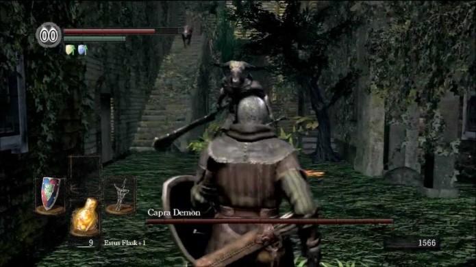 Assim que o avistar, Capra Demon irá atacá-lo com tudo que tem (Foto: Reprodução/Youtube)