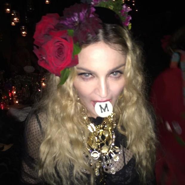 Madonna em sua festa de aniversário de 57 anos (Foto: Instagram/ Reprodução)