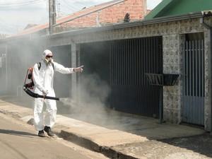 Ação de combate à dengue em Nova Odessa (Foto: Divulgação/Prefeitura)
