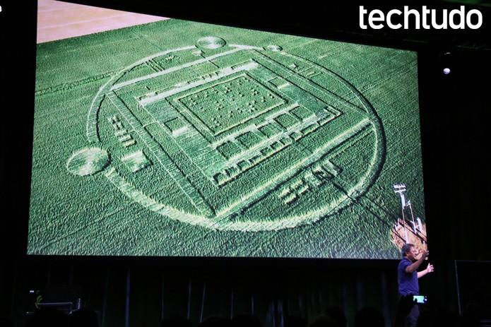 Marcas de aliens na Califórnia: viral da Nvidia para lançar o K1 (Foto: Fabrício Vitorino/TechTudo)
