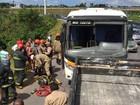 Acidente envolvendo ônibus na BR-230 deixa feridos em João Pessoa