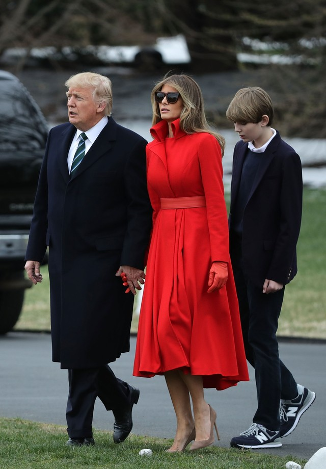 Donald, Melania e Barron Trump (Foto: Getty Images)
