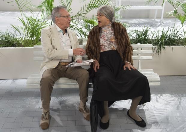 Carlos Alberto de Nóbrega com Marcius Melhem (Foto: Globo/Estevam Avellar)
