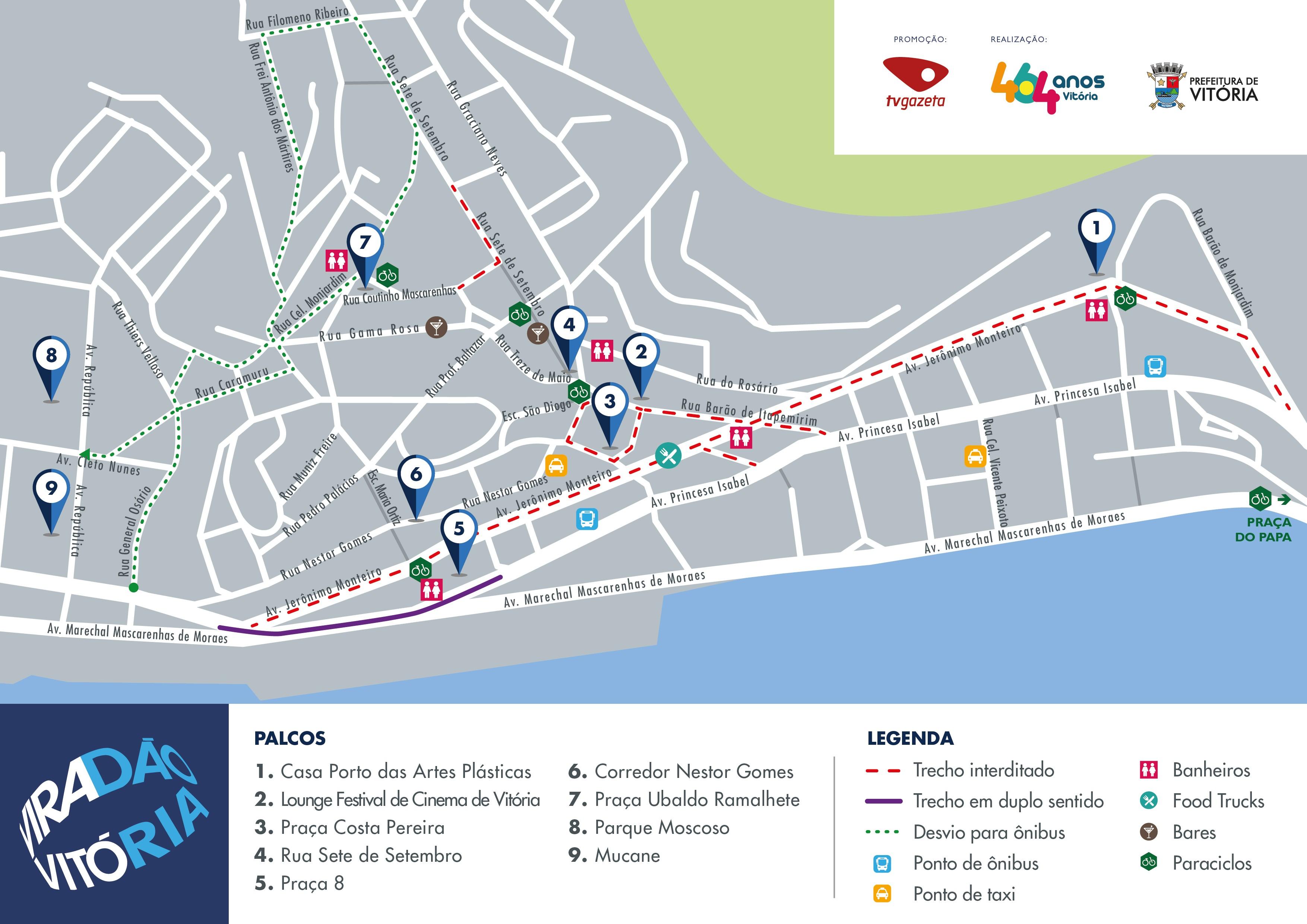 Mapa Viradão (Foto: Divulgação/ PMV)