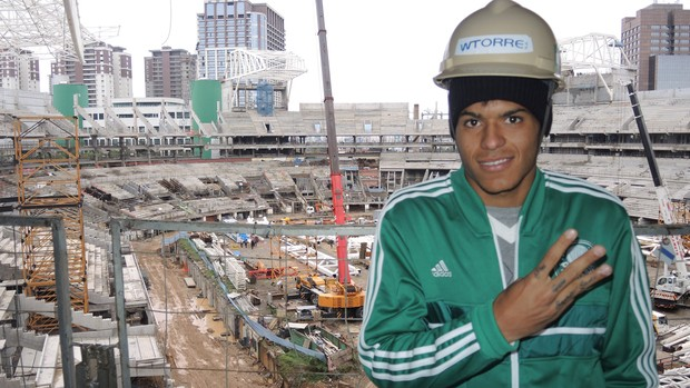 Leandro visita Allianz Parque Palmeiras (Foto: Felipe Zito)