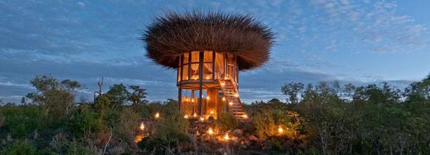 Hotel no Quênia imita ninho de pássaro gigante (Foto: Divulgação)