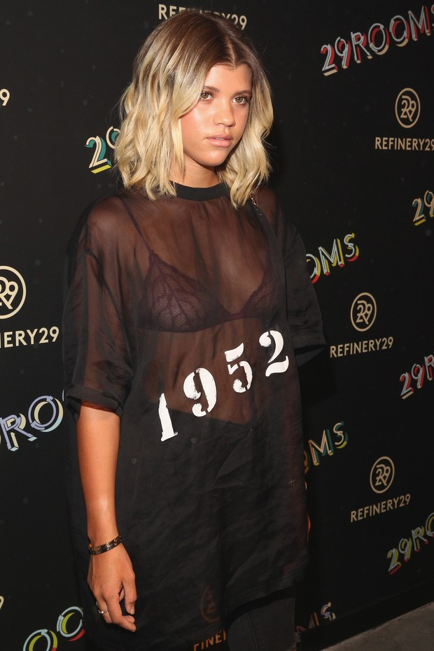 Sofia Richie em evento em Nova York, nos Estados Unidos (Foto: Astrid Stawiarz/ Getty Images/ AFP)