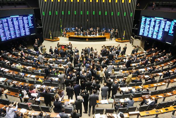Plenário da Câmara dos Deputados, em dia de votação (Foto: Gustavo Lima/Ag.Câmara)