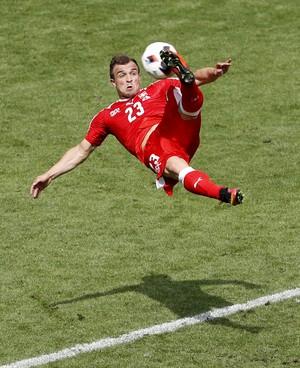 Shaqiri, Suíça x Polônia Eurocopa 2016 (Foto: Reuters)