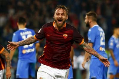 De Rossi gol Roma x Empoli (Foto: Reuters)