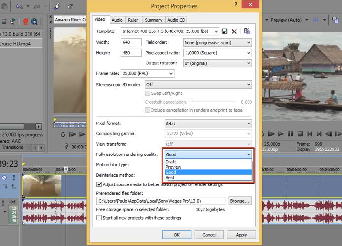Modifique o padrão de renderização (Foto: Reprodução/Paulo Alves)