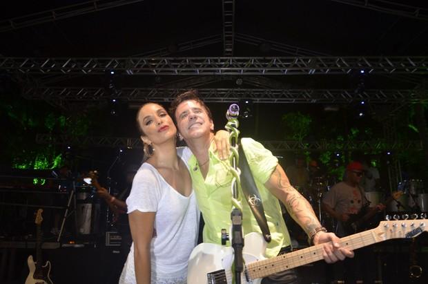 Ivete Sangalo com Tuca Fernandes em show em Salvador, na Bahia (Foto: Fred Pontes/ Divulgação)