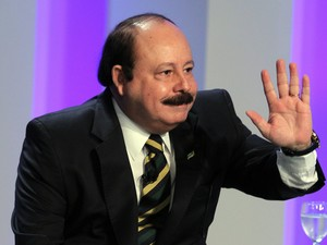 O candidato do PRTB à Presidência da República, Levy Fidelix, em noite de debate entre os presidenciáveis (Foto: Marcos de Paula/Estadão Conteúdo)