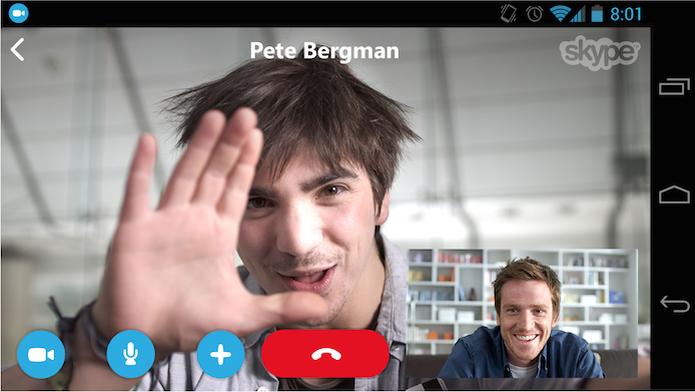 Descubra como fazer uma chamada de vídeo no Skype (Foto: Reprodução/Google Play)
