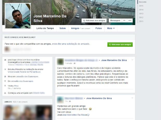 Pernambucano morre em acidente de ônibus no Peru (Foto: Reprodução/Facebook)