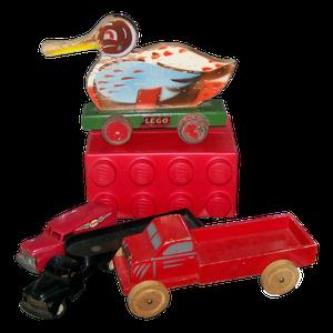 Uma das primeiras peças de lego criadas por Ole Kirk Christiansen (Foto: Legoland Creation Centre/Wikimedia Commons)