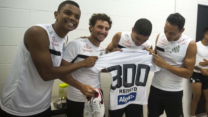 Renato - Santos - 300 jogos (Foto: Divulgação/Santos FC)