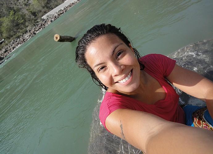 Cacau Melo fez rafting na nascente do rio Ganges, na Índia (Foto: Arquivo Pessoal)