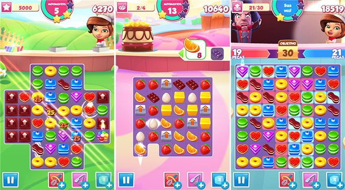 Pastry Paradise é um game ao estilo Candy Crush para Windows Phone (Foto: Divulgação/Windows Phone Store)