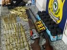PRF apreende armas e munições em bagageiro de ônibus no Maranhão